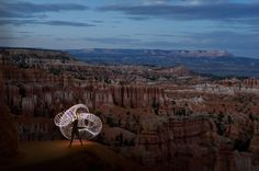 image shot by a photographer grant mallory on a road trip across the US with his camera, girlfriend and an LED hula hoop