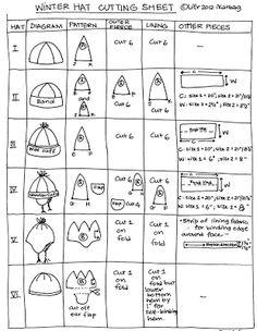 ikat bag: Winter Hats Part Two: Pattern B Fleece hat tuto with measurements