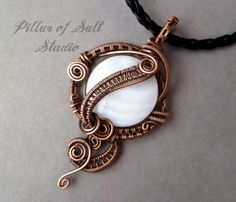 Wire wrapped pendant / Wire Wrapped jewelry by PillarOfSaltStudio