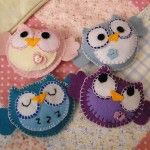 Baby Owl Pattern from felt. Super cute.