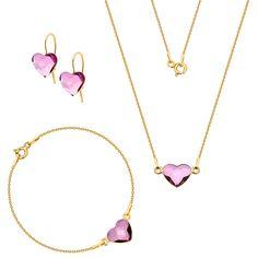 Komplet z serduszkami Swarovski Swarovski, Pendant Necklace, Jewelry, Fashion, Moda, Jewlery, Jewerly, Fashion Styles, Schmuck