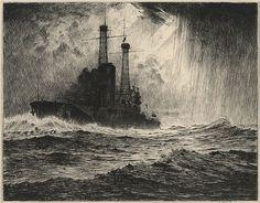 Martin Lewis: The Old Timer Battleship (1916)