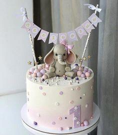 Salmon and mozzarella cake - Clean Eating Snacks Girls First Birthday Cake, Baby Birthday Cakes, Pretty Cakes, Cute Cakes, Fondant Cakes, Cupcake Cakes, Creative Birthday Cakes, Cake Decorating Videos, Occasion Cakes