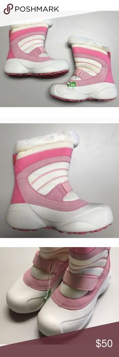 """NWT Columbia """"Snow Day"""" Pink & White Boots In perfect condition, new with tags. Columbia Shoes"""