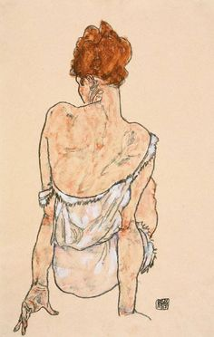 Édith Schiele, 1916. Egon Schiele (June 2, 1890 – October 31, 1918) was an Austrian painter. A protégé of Gustav Klimt, Schiele was a major figurative painter of the early 20th century. His work is noted for its intensity and its raw sexuality, and the many self-portraits the artist produced, including naked self-portraits.