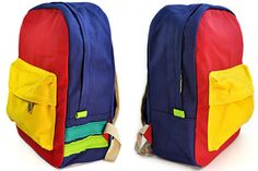Bold Color This petite pack is slightly smaller than an average but don't underestimate it's ability to carry books, supplies, or everyday necessities. Colorful Backpacks, Bold Colors, Marshmallow, Sling Backpack, Carry On, Books, Collection, Fashion, Atelier
