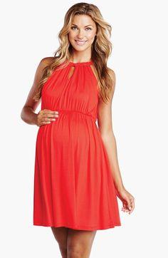 Maternal America Halter Maternity Dress | Nordstrom