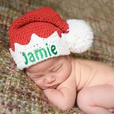 4e7a6f54261 Baby Elf Red or Green Hat Christmas Hat - Personalization Optional icon
