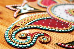 Kundan rangoli, Diwali rangoli, Acrylic floor art Indian Wedding by Nirman Thali Decoration Ideas, Diwali Decorations, Indian Wedding Decorations, Indian Rangoli, Diwali Rangoli, Diwali Inspiration, Acrylic Rangoli, Wedding Gift Wrapping, Floor Art