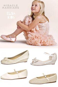 Elsa Kids voor de grote dag. Verkrijgbaar in diverse modellen en in vele kleuren. #miraclemarriage #trouwen #bruidsmeisjes #schoenen #kids