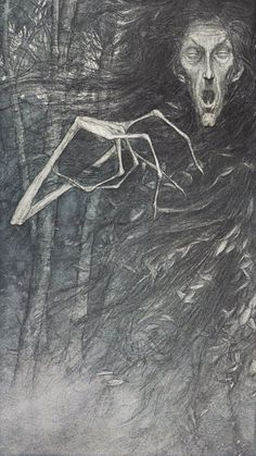 """""""The one with the white hand"""" (Birch Tree) from 'Faeries' by Brian Froud and Alan Lee."""