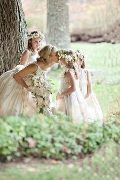 Bride with flower girls, this will be me with my neices.