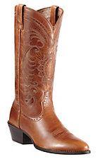 Ariat Ladies Magnolia Vintage Caramel Heritage R-Toe Traditional Toe Western Boots