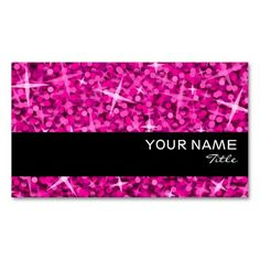 pink and black business cards