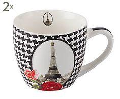 2 Tasses à café abélinia, porcelaine - Ø10