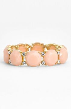 Perfect for spring! Love the light pink stones on this bracelet.