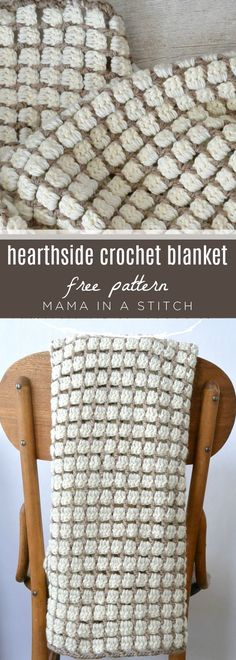 Free pattern with tutorial on how to crochet this blanket! via Mama In A Stitch … Free pattern with tutorial on how to crochet this blanket! via Mama In A Stitch Knit and Crochet Patterns – Jessica Plaid Au Crochet, Easy Crochet, Crochet Hooks, Double Crochet, Crochet Afghans, Crochet Stitches, Crochet Blankets, Crochet Cushions, Crochet Pillow