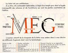 @Megan Laser Architecture of a Letter, Paris 1948