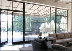 steel framed windows | Steel-framed windows, photo from my inspiration file.]