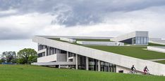 Guests To Henning Larsen's Moesgaard Museum Can Stroll More Than Its Grassy Sloping Roof - http://www.decoradecor.com/guests-to-henning-larsens-moesgaard-museum-can-stroll-more-than-its-grassy-sloping-roof.html