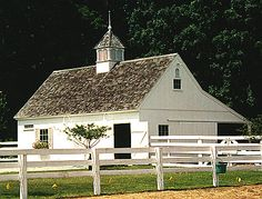 Small white barn