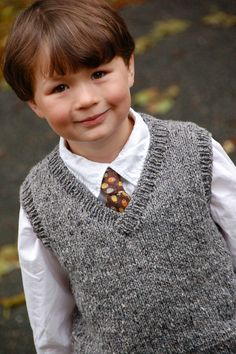 "Basic Vest for Children pattern by Diane Soucy Ravelry: Basic Vest for Children pattern by Diane Soucy Luan wants this in ""storm gray"".Ravelry: Basic Vest for Children pattern by Diane Soucy Luan wants this in ""storm gray"". Boys Knitting Patterns Free, Sweater Knitting Patterns, Knitting For Kids, Crochet For Kids, Knitting Sweaters, Baby Boy Vest, Toddler Vest, Kids Vest"