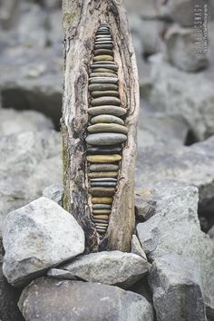 land art in hungary-stone balance and driftwood by tamas kanya - Salvabrani Stone Sculpture, Driftwood Sculpture, Driftwood Art, Sculpture Art, Stone Crafts, Rock Crafts, Art Pierre, Driftwood Projects, Wood Stone