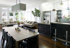 cozinha conjugada com sala de jantar e estar - Pesquisa Google