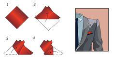 Kronenfaltung | Einstecktuch falten