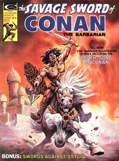 Savage Sword of Conan #8. Death-Song of Conan.  #Conan