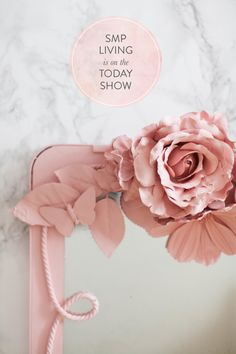 Abby Larson is at it again. She's hanging out with her TODAY Show pals and this morning she's sharing 6 projects that will give your home a pretty splash of Spring. And since these are all easy DIY's, that splash is totally on