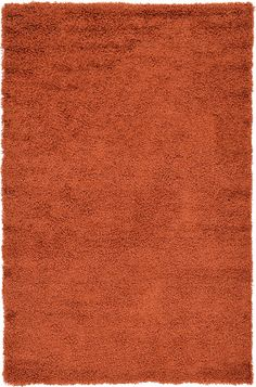 Unique Loom basic shag Area Rug, 5'0' x 8'0', Terracotta ** To view further for this item, visit the image link. (This is an affiliate link and I receive a commission for the sales)