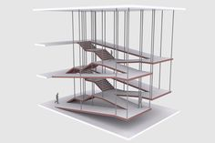 nexttoparchitects_ by _pegorin _next_top_architects Escada_Rampa Architecture Design, Stairs Architecture, Architecture Student, Concept Architecture, Tectonic Architecture, Floating Architecture, Architecture Models, Ramp Design, Design Model