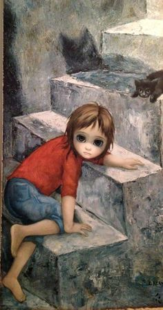 pinturas de margaret keane - Buscar con Google.........UP THE STEPS (STAIRS).......SOMETIMES A VERY DIFFICULT TASK.......ccp