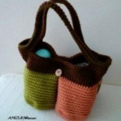 4つの仕切りのカラフルバッグ♪の作り方|編み物|編み物・手芸・ソーイング|アトリエ