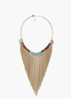 Discover the sales for women at MANGO and shop the latest trends in coats, trousers, sweaters, shoes and accessories. Tassel Necklace, Necklaces, Waterfall, Beads, Mango France, Jewelry, Mango Fashion, Woman, Head Chains