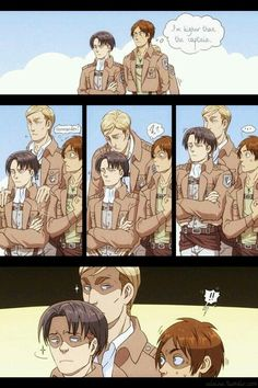 Levi's got friends in high places. (Get it? Because Erwin is tall? *forced laugh at my own terrible joke*)