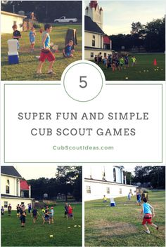 These 5 Cub Scout games are perfect for den meetings.  You can plan these as part of your meeting or they can be spontaneous activities. via @CubIdeas