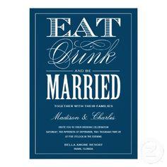 & BE MARRIED   WEDDING INVITATION