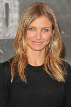 Cameron Diaz looks so good with dark blonde
