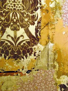 peeling layers of wallpaper Peeling Wallpaper, Painting Wallpaper, Of Wallpaper, Wallpaper Layers, Wabi Sabi, Buddha, Painting Concrete, Peeling Paint, Texture Painting