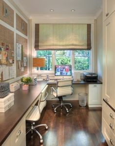 Home Office Corner Cool Large Corner Office Design For Two Lushome 30 Corner Office Designs And Space Saving Furniture Placement Ideas Home Office Space, Home Office Design, Home Office Decor, House Design, Home Decor, Office Designs, Desk Space, Office Nook, Study Space