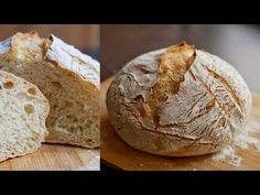 No-Knead Bread Recipe🍞 Knead Bread Recipe, No Knead Bread, Pancakes Easy, Banana Pancakes, Jim Lahey, Pan Rapido, Dutch Baby Pancake, Homemade Bagels, Bagel Recipe