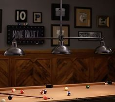 Image result for how to make a pool table light with pendant lights