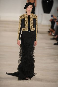 How's this for a modern-day matador! @RalphLauren SS13 #nyfw