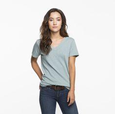 Women's Premium V-Neck T Shirt   American Giant