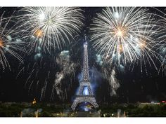 Fireworks are seen during Bastille Day celebrations in Paris, France, on July 14. |  Chesnot/WireImage