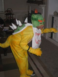 This is a Bowser Jr. & Coolest Bowser Jr. Costume | Pinterest | Bowser Costumes and ...