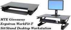 Participate and win a Ergotron WorkFit-T Sit/Stand Desktop Workstation