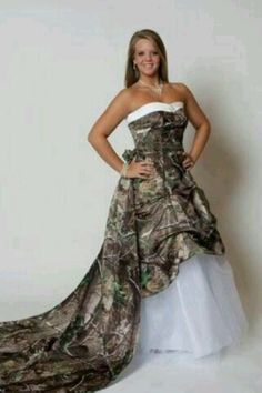 9a735f7762 Camo Bridal and Wedding Dresses Camouflage Prom Wedding Homecoming Formals